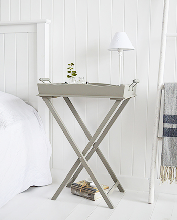 Charleston Grey Bedside  Table - Grey bedroom room furniture from The White Lighthouse