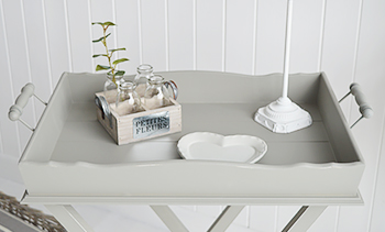 Charleston Grey Side Table - Grey living room furniture - Side tray  table