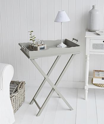 Charleston Grey Side Table - Grey living room furniture