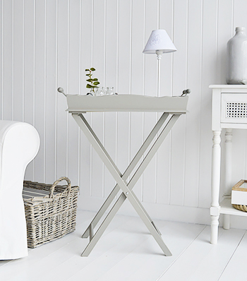 Charleston Grey Side Table - Grey living room  furniture from The White Lighthouse