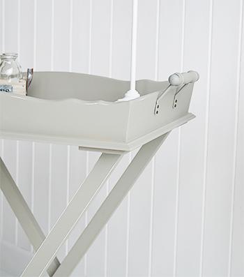 Charleston Grey Bedside  Table - Grey  room furniture