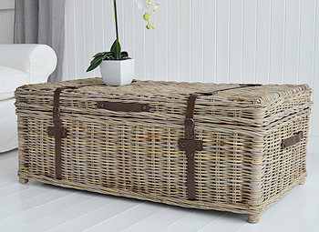 Seaside willow coffee table with storage side