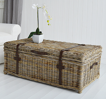 Storage Trunk as a coffee table