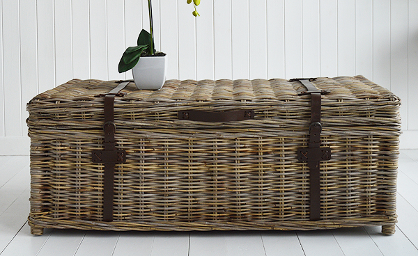 Casco Bay willow coffee table with storage living room fro New England and coastal furniture