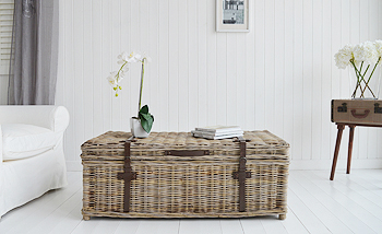 Living room Seaside willow coffee table with storage