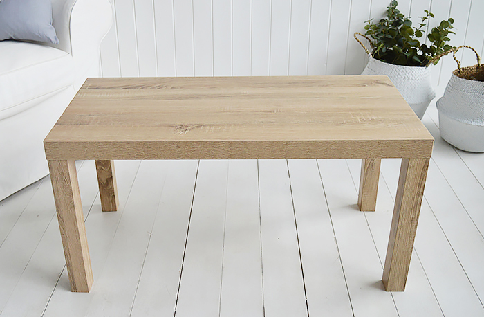 Woodstock Weathered Oak effect coffee table from The White Lighthouse Furniture