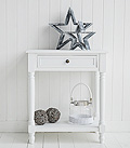 Cove Bay white console hall or lamp table