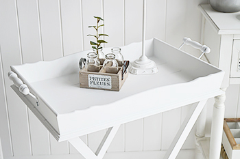 Cove Bay white furniture for bedroom and living room
