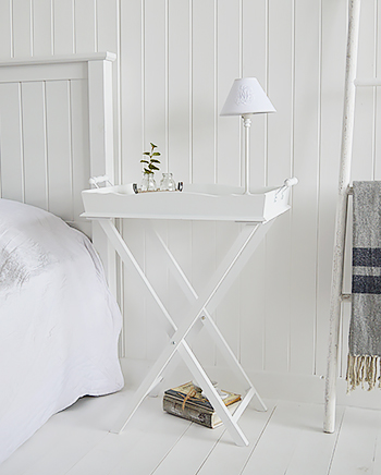 Cove Bay white bedside table for simple white bedroom furniture