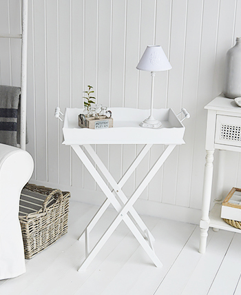 Cove Bay White Side Table for living room furniture