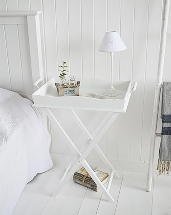 Cove Bay white bedside table  - White Bedroom Furniture