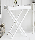 COve Bay White Tray Table small hall furniture
