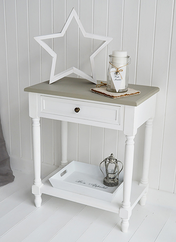 Cove Bay Grey And White Lamp Table Living Hall And
