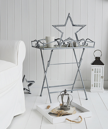 Grayswood folding grey table, perfect for entertaining , as a bedside table or lamp table