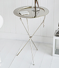 Kensington silver folding tray table