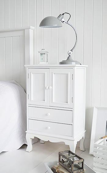 Lyon White Cupboard Storage Furniture The White Lighthouse