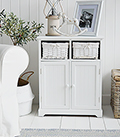 Maine white sideboard with lots of simple storage for the entrance of your home