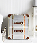 Manhattan silver small chest of drawers for living room, hallway furniture