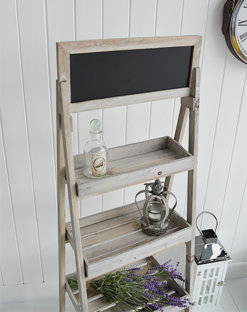 Montauk wooden shelf unit for bathroom, living room and kitchen