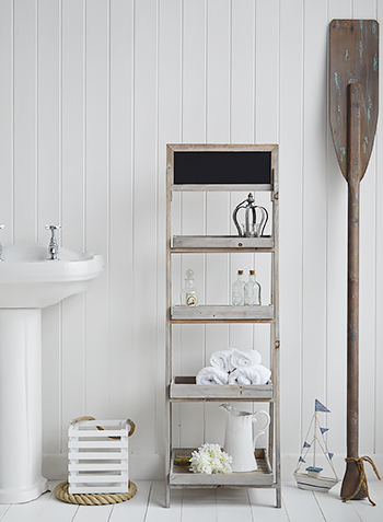 Montauk Bathroom freestanding shelf unit