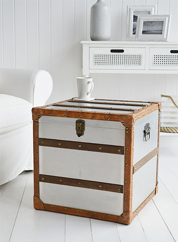 Monteresy trunk for white furniture in living room and bedroom