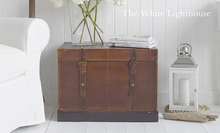 Panama vintage trunk from The White Lighthouse Furniture for living room, bedroom, hallway and bathroom