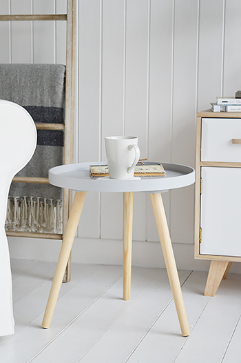 Scandi style side table for living room furniture