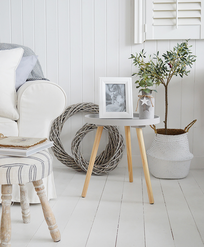 Portland Grey Scandinavian Table From The White Lighthouse Country, Scandi, White, Coastal and New England Furniture, Home Interiors and Lifestyle