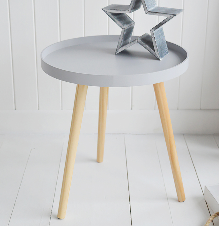 Portland grey scandi tripod table