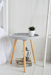 Portland Grey Small Bedside Table