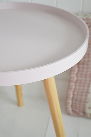 Pink Bedside Table: Portland Pink Small Bedside Table
