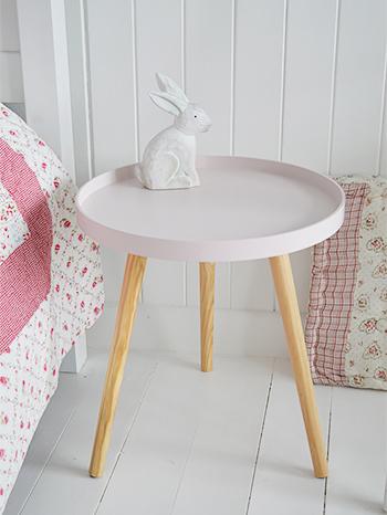 Portland pink tripod table