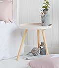 Small Portland pink bedside table