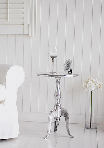 Kensington Silver furniture, a small side table for wine, lamp or flowers