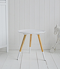 Small ooden white side table