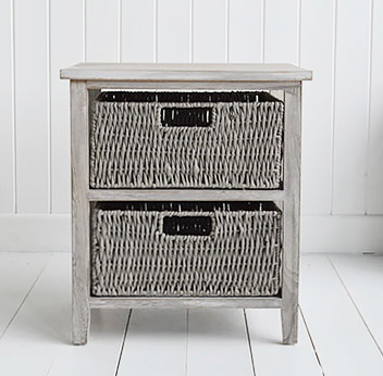 St Ives grey storage furniture for New England, Coasta, Beach and Cottage interiors
