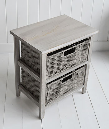 St Ives grey storage small 2 baskets for living room furniture