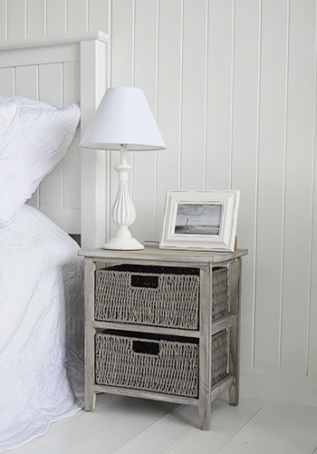 St Ives grey bedside table for grey bedroom furniture