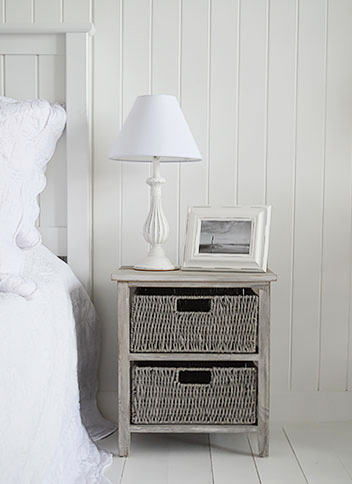 St Ives grey bedside table