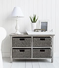 St Ives Grey Basket Storage Furniture