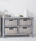 St Ives grey wooden storage furniture with 4 drawers