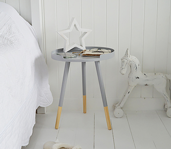 Grey Scandi bedside table