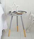 Grey Scandi Tripod side drinks table