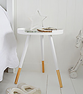 White Tripod Lamp Table