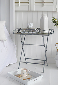 Grayswood folding tray bedside table