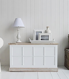Vermont large white trunk. White furniture for the living room with lots of storage, a great tv cabinet
