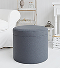 Westhampton grey foot stool or coffee table with storage
