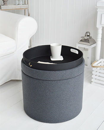 Southapmton grey foot stool or coffee table with storage
