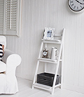 White living room shelf unit freestanding