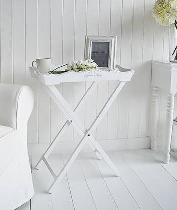 Bitler Tray in white